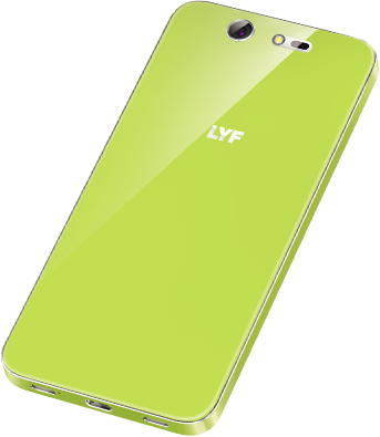 LYF EARTH 2 Smartphone Lime Back