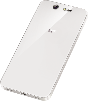 LYF EARTH 2 Smartphone White Back