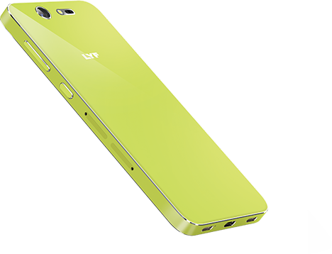 LYF EARTH 2 Smartphone - 5 inch Display Lime Design